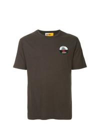 Camiseta con cuello circular estampada en marrón oscuro de Geym