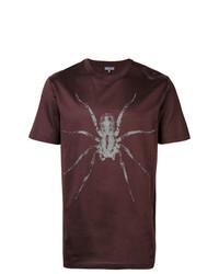 Camiseta con cuello circular estampada en marrón oscuro de Lanvin