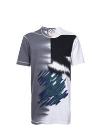 Camiseta con cuello circular estampada en multicolor de 11 By Boris Bidjan Saberi