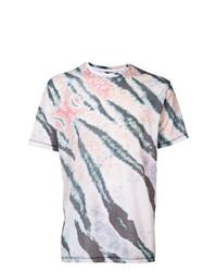 Camiseta con cuello circular estampada en multicolor de Baja East