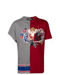 Camiseta con cuello circular estampada en multicolor de Dolce & Gabbana