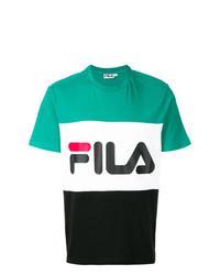 Camiseta con cuello circular estampada en multicolor de Fila