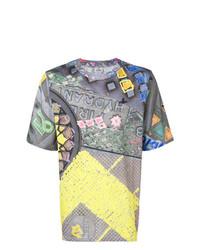Camiseta con cuello circular estampada en multicolor de Vivienne Westwood MAN