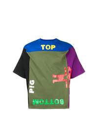 Camiseta con cuello circular estampada en multicolor de Walter Van Beirendonck