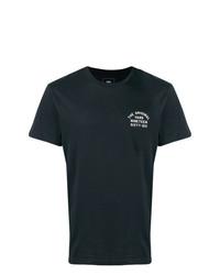 Camiseta con cuello circular estampada en negro y blanco de Vans