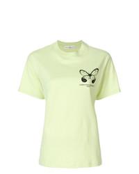 Camiseta con cuello circular estampada en verde menta de Golden Goose Deluxe Brand