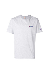Camiseta con cuello circular estampada gris de Champion