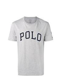 Camiseta con cuello circular estampada gris de Polo Ralph Lauren