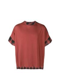 Camiseta con cuello circular estampada marrón de Andrea Ya'aqov