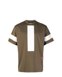Camiseta con cuello circular estampada marrón de Damir Doma