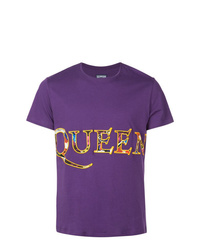 Camiseta con cuello circular estampada morado de Vilebrequin
