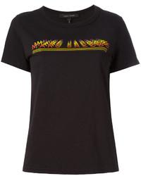 Camiseta con cuello circular estampada negra de Marc Jacobs