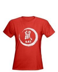Camiseta con Cuello Circular Estampada Roja de CafePress.com