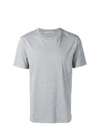 Camiseta con cuello circular gris de Acne Studios