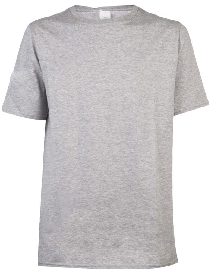 Camiseta con cuello circular gris de AR+