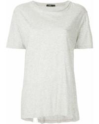 Camiseta con cuello circular gris de Bassike