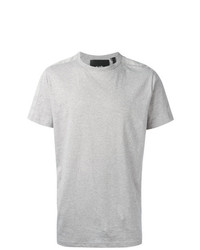Camiseta con cuello circular gris de Blood Brother