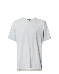 Camiseta con cuello circular gris de Comme Des Garcons Homme Plus