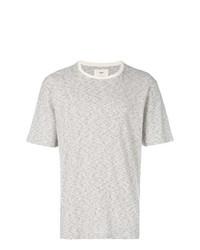 Camiseta con cuello circular gris de Folk