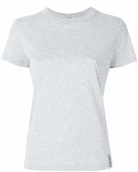 Camiseta con cuello circular gris de Kenzo