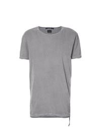 Camiseta con cuello circular gris de Ksubi