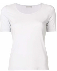 Camiseta con cuello circular gris de Le Tricot Perugia