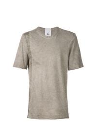 Camiseta con cuello circular gris de Lost & Found Rooms