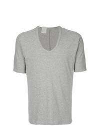 Camiseta con cuello circular gris de N. Hoolywood