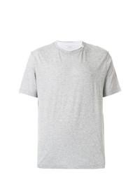 Camiseta con cuello circular gris de Paolo Pecora