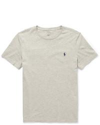Camiseta con cuello circular gris de Polo Ralph Lauren