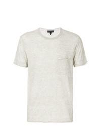 Camiseta con cuello circular gris de rag & bone