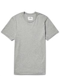 Camiseta con cuello circular gris de Reigning Champ