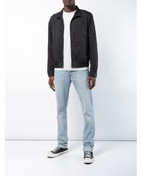 Camiseta con cuello circular gris de Off-White