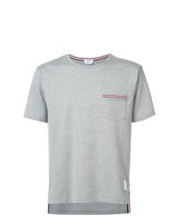 Camiseta con cuello circular gris de Thom Browne