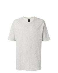 Camiseta con cuello circular gris de Thom Krom