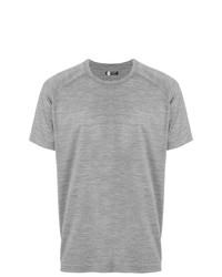 Camiseta con cuello circular gris de Z Zegna
