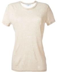 Camiseta con cuello circular marrón claro de IRO