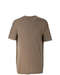 Camiseta con cuello circular marrón de Represent