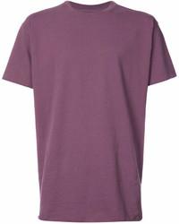 Camiseta con cuello circular morado