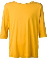 Camiseta con cuello circular mostaza de Attachment