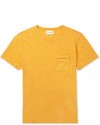 Camiseta con cuello circular mostaza de Oliver Spencer