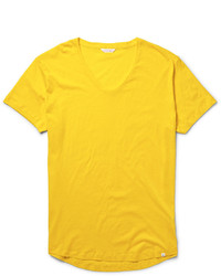 Camiseta con cuello circular mostaza de Orlebar Brown