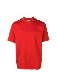 Camiseta con cuello circular naranja de Acne Studios