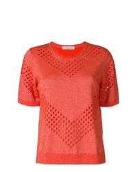 Camiseta con cuello circular naranja de Golden Goose Deluxe Brand