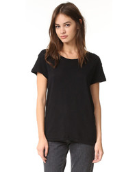 Camiseta con cuello circular negra de Current/Elliott