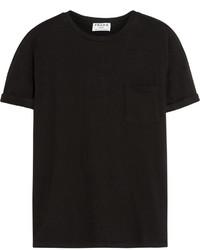Camiseta con cuello circular negra de Frame Denim