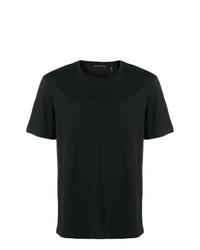 Camiseta con cuello circular negra de Helmut Lang