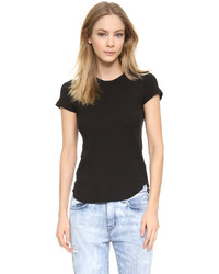 Camiseta con cuello circular negra de James Perse