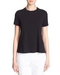 Camiseta con cuello circular negra de Kate Spade