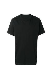 Camiseta con cuello circular negra de Maharishi